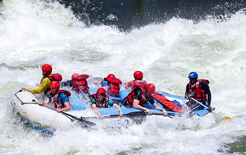 Water rafting at Victoria Falls with Kala Safaris
